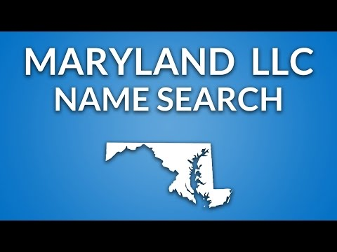 Maryland LLC - Name Search