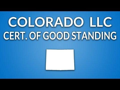 Colorado LLC - Certificate of Good Standing