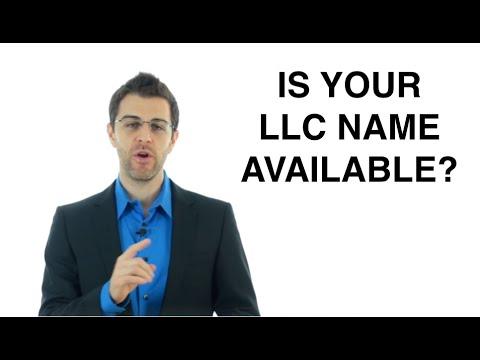 Choosing Your LLC Name: Form an LLC (5/11)
