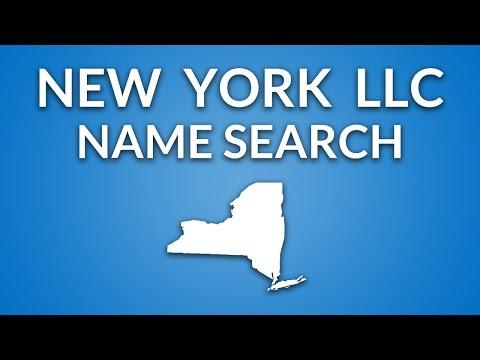 New York LLC - Name Search