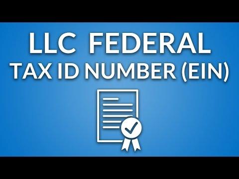 LLC Federal Tax ID Number (EIN)
