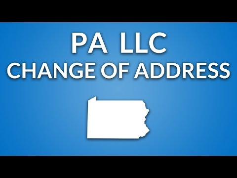 Pennsylvania LLC - Change of Registered Office