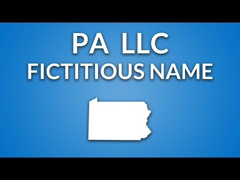 Pennsylvania LLC - Fictitious Name/DBA