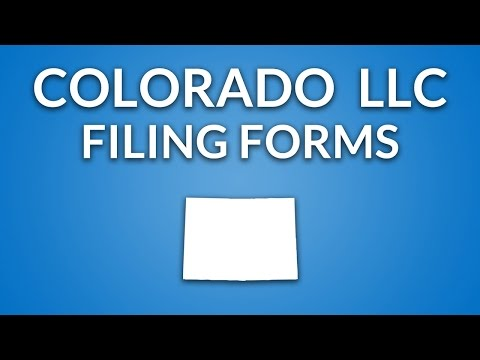 Colorado LLC - Formation Documents