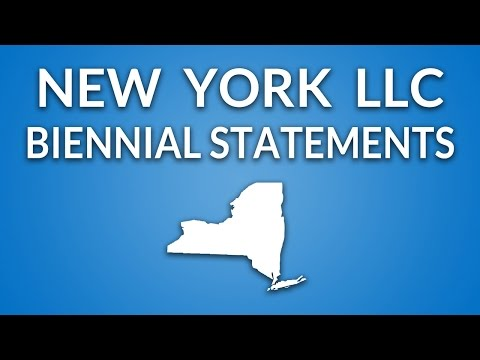 New York LLC - Annual Report (Biennial Statement)