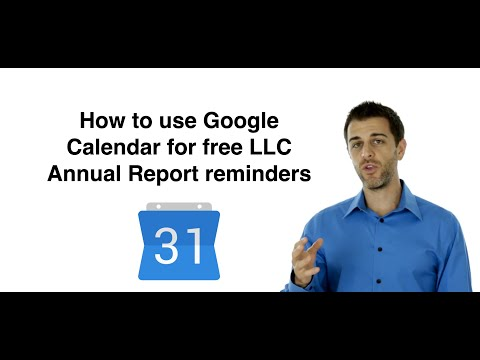 How to create LLC Annual Report reminders using Google Calendar