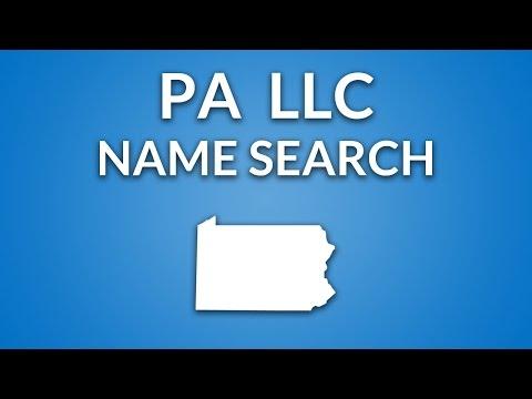Pennsylvania LLC - Name Search