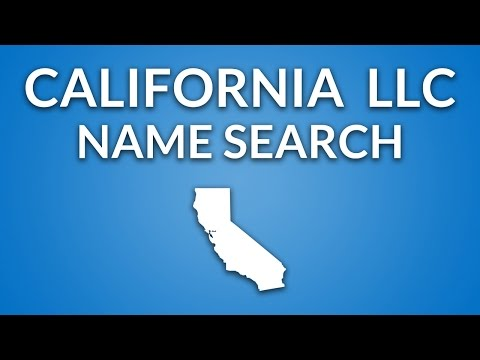 California LLC - Name Search