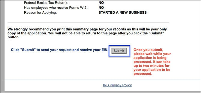 Apply for EIN LLC Online Review