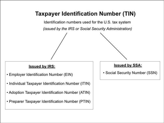 IRS Taxpayer ID Numbers