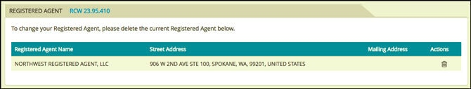 Washington State LLC Application Registered Agent
