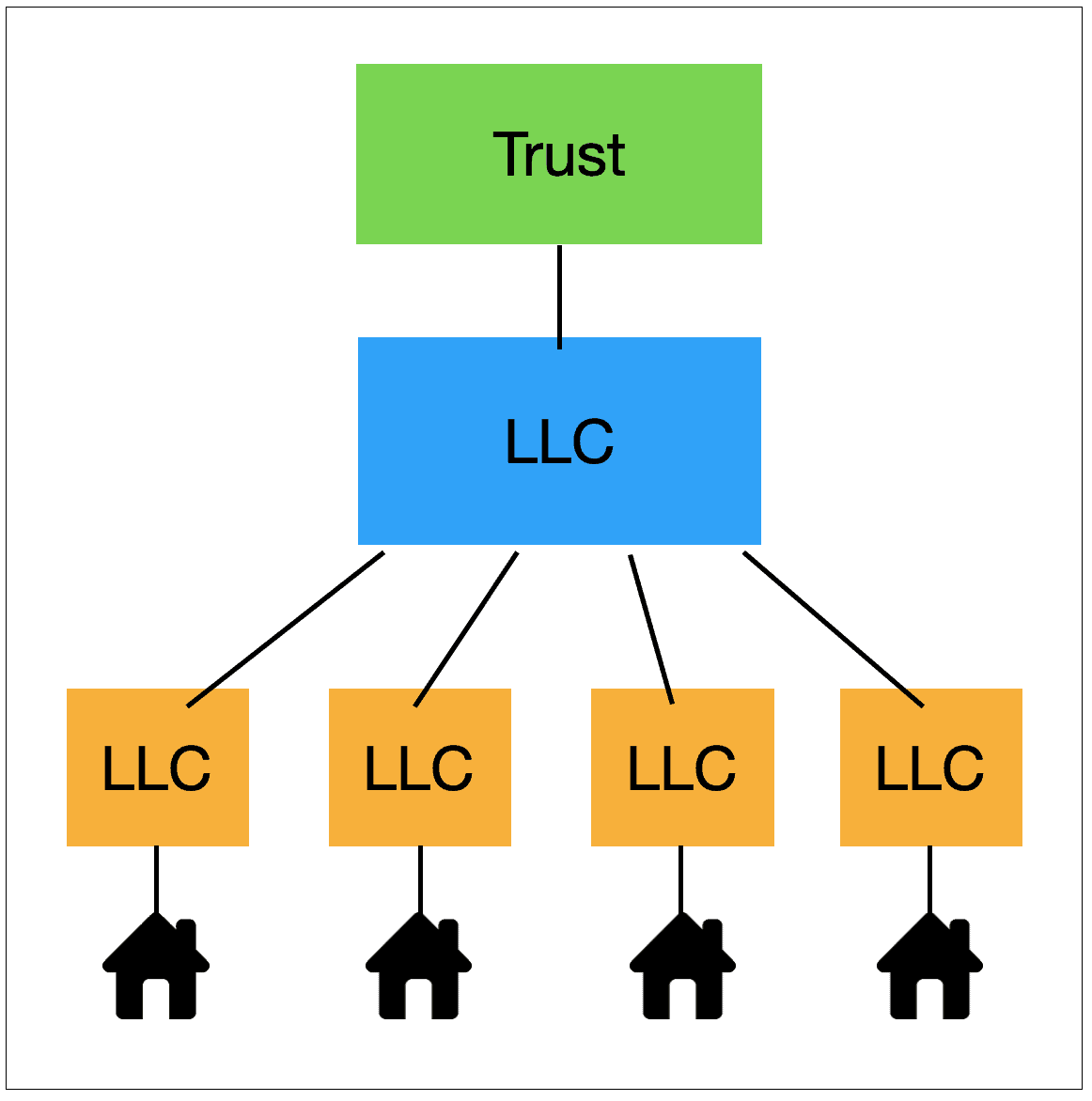 Diagram of Trust owning LLC holding company
